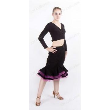 Юбка для бальных танцев SM Collection «Роза»