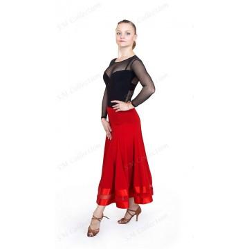 Женское боди для бальных танцев SM Collection «Афродита (гипюр)»