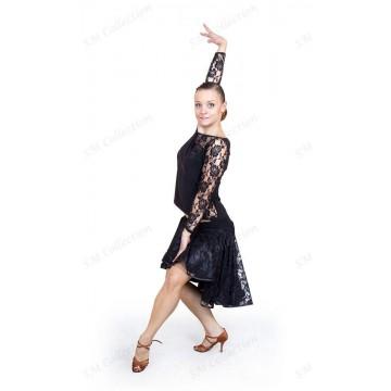 Юбка для бальных танцев SM Collection «Анжелина (с подкладкой атлас)» латина