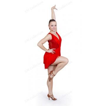 Платье для бальных танцев SM Collection «Анжелика» латина