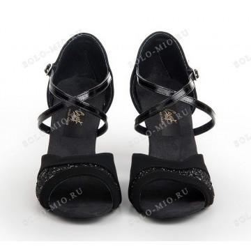 Женские туфли для бальных танцев «Соло плюс» «L710» латина 7см